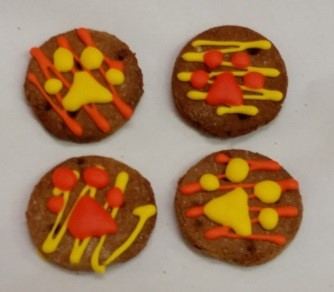 decorated ginger snap dog treats