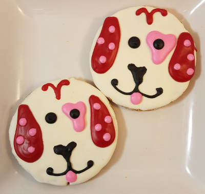 Valentine Dog Face Cookie